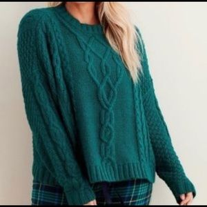 ❤️AERIE CHUNKY CABLE KNIT OVERSIZED SWEATER ❤️ XS